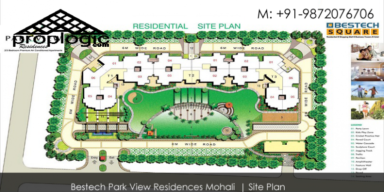 Site Plan Bestech park view reidences