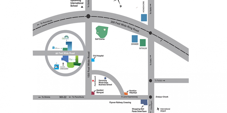Sushma Crescent Location Map