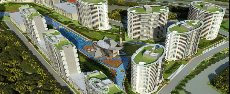 OMAXE- The Lake Apartments, 3BHK TYPE A
