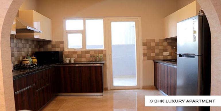 3bhk luxury apartment sample flat kitchen pic