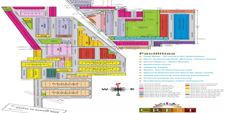 GBP Crest Site plan