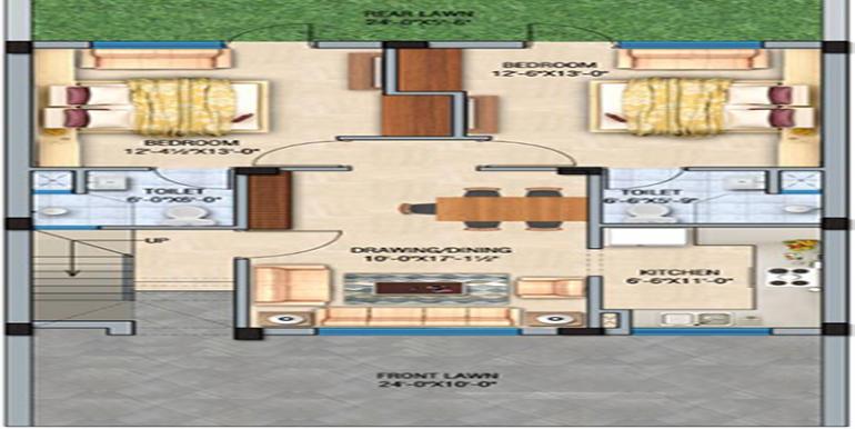 GBP Crest kharar GF floor plan