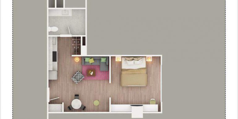 APS – Swiss International – Tower 3 – 4th Floor Service Apartment 650 Sq. Ft. – Zirakpur