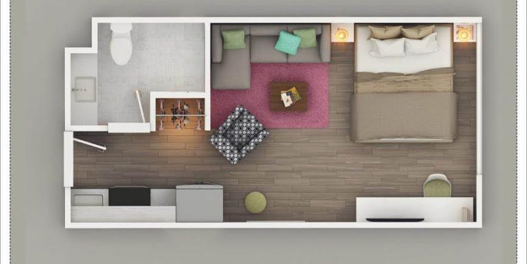 APS – Swiss International – Tower 3 – 2nd Floor Service Apartment 500 Sq. Ft. – Zirakpur