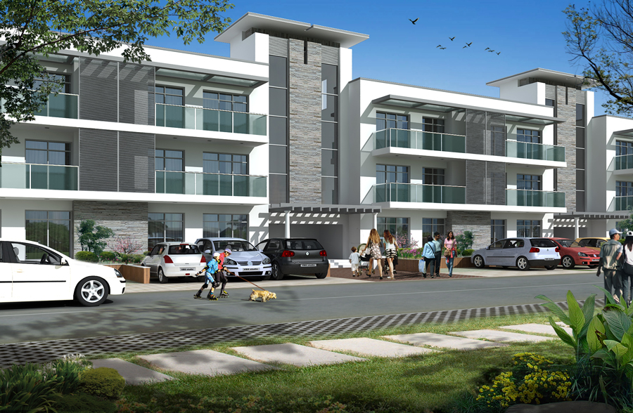 Omaxe Celestia Grand 3 BHK independent floors (UGF), New Chandigarh, Mullanpur