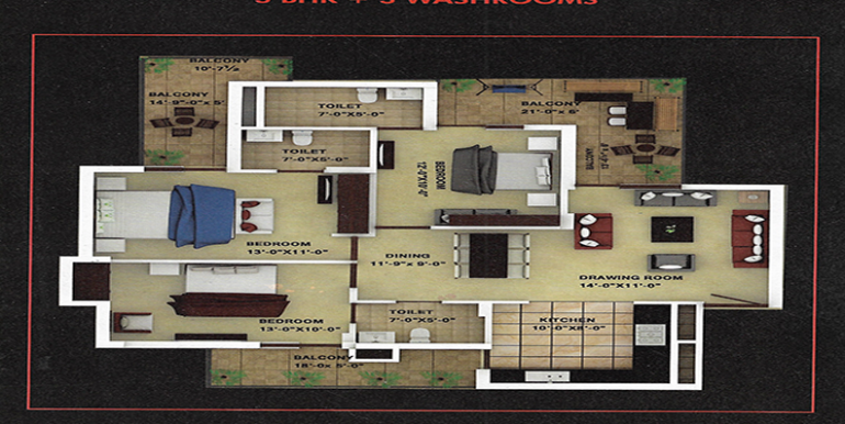 3bhk-Floor-plan-platinium