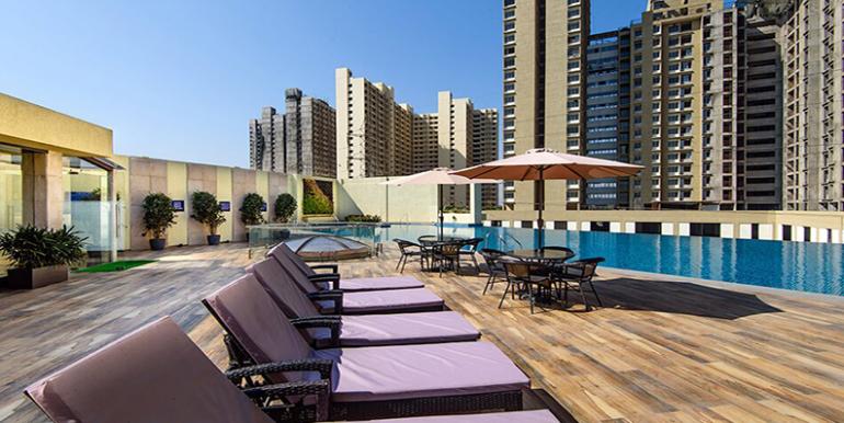 tata amnatra swimming pool view