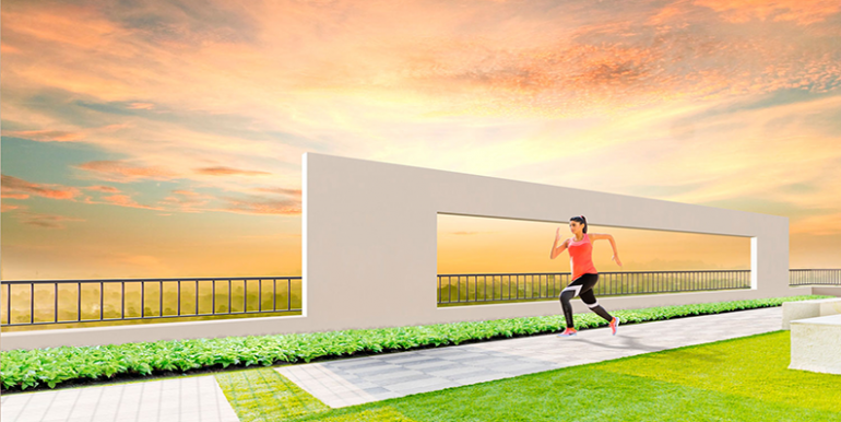 tata housing amantra jogging track