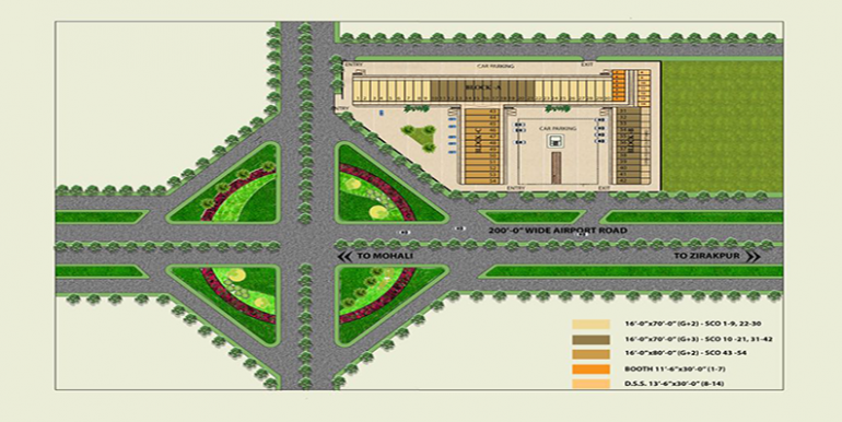 Areo arcade layout