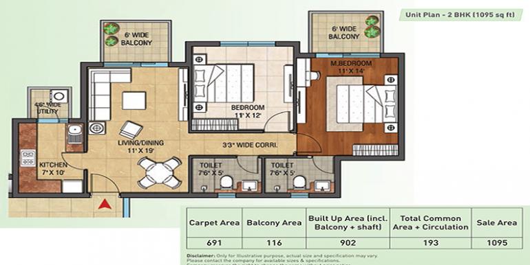 2bhk-1095-floor-plan