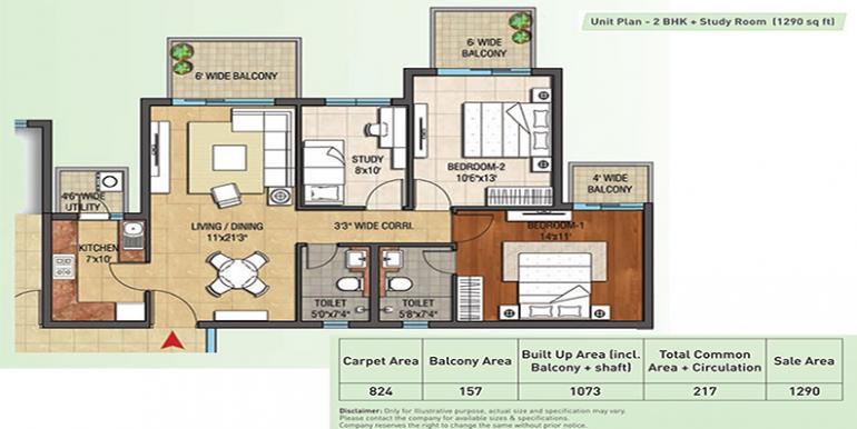 2bhk-study-1290-floor-plan