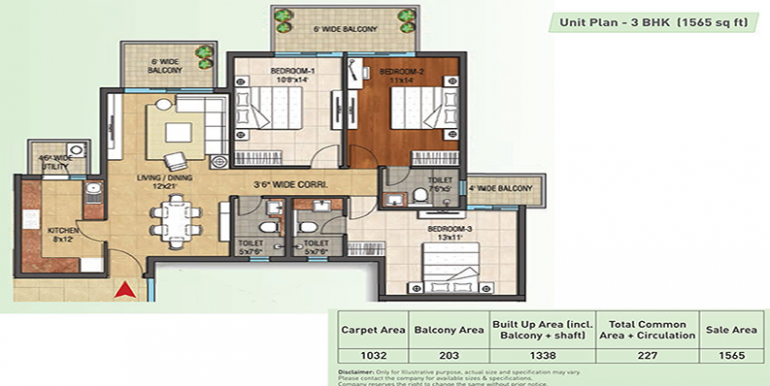 3bhk-1565-floor-plan